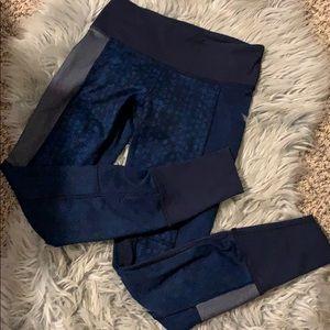 Lululemon Athelitica Navy Blue/Gray Leggings